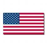 10 Aufkleber 6, 5cm Sticker US Flag USA Amerika Fußball EM WM Flagge Fahne Deko