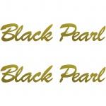 2 Aufkleber Tattoo 20cm gold Black Pearl Auto Motorrad Racing Deko Folie decal
