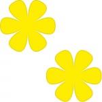 2 Aufkleber 8cm gelb Blume Blümchen Wand Tür Kinder Möbel Auto Tattoo Deko Folie