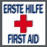 5 Aufkleber 5cm Sticker Hinweis Erste Hilfe Erstehilfe Schrank Kasten Vitrine