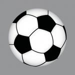 Aufkleber 15cm Sticker Ball Fußball Fan Fußballaufkleber Fußballsticker EM WM