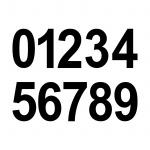 6cm schwarz Aufkleber Tattoo Haus Nummer Ziffer Zahl wählbar für Wandleuchte