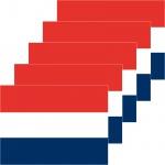 5 Aufkleber 6cm Sticker NL Niederlande Holland Fußball Deko EM WM Flagge Fahne