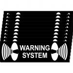 10 Aufkleber Warning System 6, 5cm Sticker Balkontür Fenster Tür Scheibe Rahmen