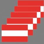 5 Aufkleber 6, 5cm Sticker Österreich A AT AUT Fußball Deko EM WM Flagge Fahne