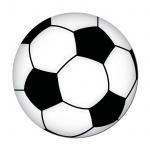 Aufkleber 10cm Fußball EM WM Deutschland Fan Artikel Auto Heck Tür Deko Ball