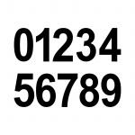 5cm schwarz Aufkleber Tattoo Haus Nummer Ziffer Zahl wählbar für Wandleuchte