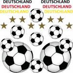 24 Teile Aufkleber Sticker Tattoo Auto Deko Folien Fußball Fan EM WM Deutschland