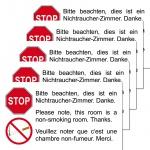 5 Aufkleber Sticker Rauchverbot Nichtraucherzimmer Rauchen Verboten Untersagt