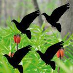 4 Aufkleber 10cm Taube Vogel schwarz Fenster Warnvögel Vogelschutz Vogelschreck