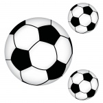 Aufkleber Set 20cm 10cm Sticker Fußball WM EM Fan Deko für Auto Fenster Tür Wand