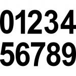 10cm schwarz Aufkleber Tattoo Haus Nummer Ziffer Zahl wählbar für Wandleuchte