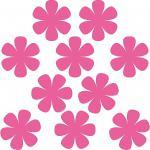 10 Aufkleber Tattoo 8cm pink Blumen Blümchen Deko Folie Kinder Zimmer Schrank