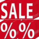 30 Aufkleber Sticker 10 Sale 20 % Prozent Preis Rabatt Aktion Angebot Ausverkauf
