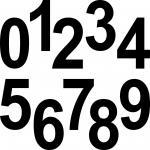 20 Ziffern 12cm schwarz Aufkleber Tattoo Ziffer Zahl Hausnummer Zimmer Nummern