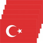 5 Aufkleber 8, 5cm Sticker Türkei Türkiye TUR Fußball EM WM National Flagge Fahne