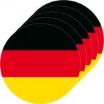 5 Aufkleber 10cm rund BRD Sticker Deutschland Flagge Fahne WM EM Fußball Deko