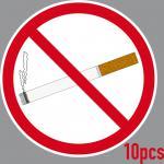 10 Aufkleber 15cm Sticker Rauchen Verboten Nichtraucher Rauchverbot Warn Schild