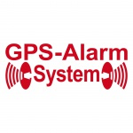 2 Aufkleber Tattoo GPS Alarm System rot invers gespiegelt innenklebend auf Glas