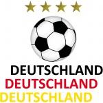 Fußball Set Ball 10cm Sterne 2, 5cm Deutschland 19cm EM WM Auto Aufkleber Tattoo