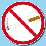 25 Aufkleber 15cm Sticker Rauchen Verboten Nichtraucher Rauchverbot Warn Schild