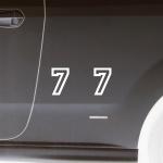 2 Stück Startnummer 7 Racing Zahl Nummer Auto Motorrad Kart Motorsport 10cm weiß