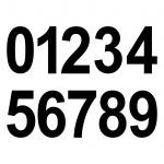 20 Ziffern 8cm schwarz Aufkleber Tattoo Ziffer Zahl Hausnummer Zimmer Nummer Nr.