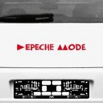 Aufkleber Tattoo 45cm Delta Auto Fenster Spiegel Heck Deko Folie Depeche Mode