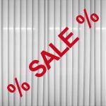Aufkleber SALE 65cm rot + 2 % Zeichen Verkauf Rabatt Aktion Fenster Deko Folie