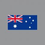 20 Aufkleber 6, 5cm Sticker AUS AU Australien Fußball Deko EM WM Flagge Fahne