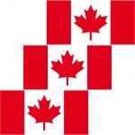 3 Aufkleber 6, 5cm Sticker Kanada CAN canadian Fußball Deko EM WM Flagge Fahne