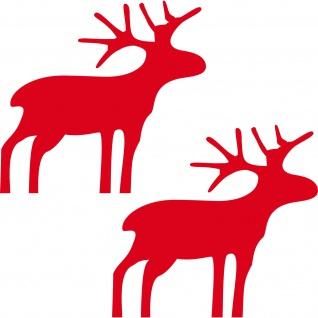 Bilder Rentiere Weihnachten.Elch 8cm Rudolph Aufkleber Rentiere Fenster Tür Deko Folie Winter Weihnachten
