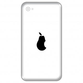 8 Aufkleber 2, 7cm Birne Handy smartphone Tattoo Deko Folie Apple Apfel verarsche - Vorschau 2