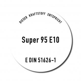 Aufkleber 10cm Super Benzin 95 E10 Kraftstoff Tankstelle Sticker Tank Zapfsäule - Vorschau 4