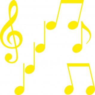 Set S Noten weiß Violinschlüssel Notenschlüssel Musik Auto Aufkleber Tattoo Deko