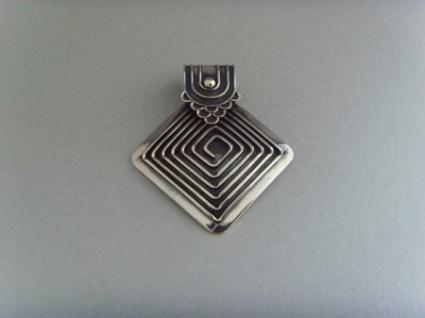 Spiralanhänger Raute - 925er Silber
