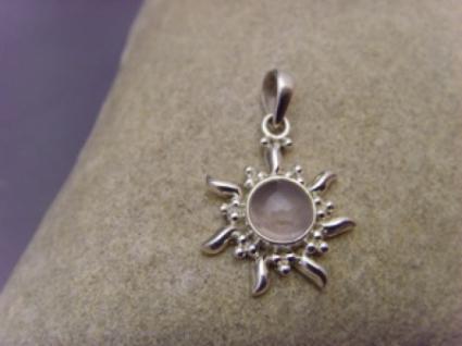Rosenquarz Inka Sonne 925 er Silber