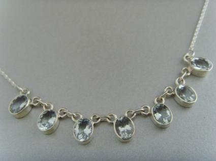 Aquamarin - Collier Silber 925