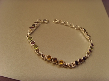 Multicolor-Armband 925er Silber