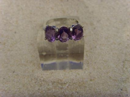 Amethyst - Ring 925er Silber Facettenschliff - Vorschau 3