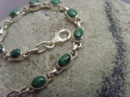 Armband - Malachit - 925er Silber
