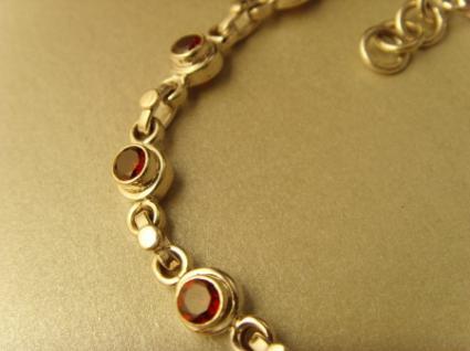 Granatstein-Armband - 925er Silber
