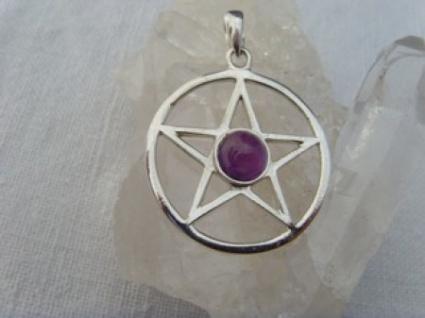 Pentagramm - Amethyst 925er Silber