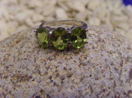 Peridot - Ring 925er Silber Facettenschliff - Vorschau 3