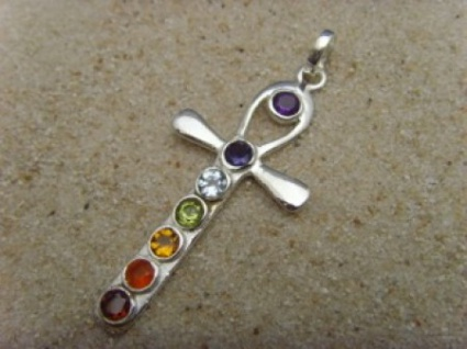 Chakra-Anhänger 925er Silber Engel - Form