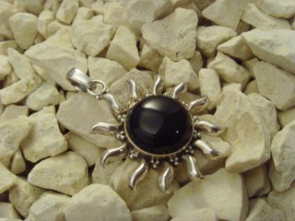 Inka-Sonne 925er Silber schwarzer Onyxstein
