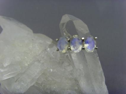 Mondstein - Ring 925er Silber Facettenschliff