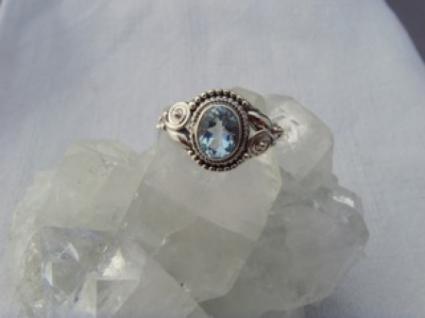 Blautopas-Ring filigrane Handarbeit 925er Silber - Vorschau 3