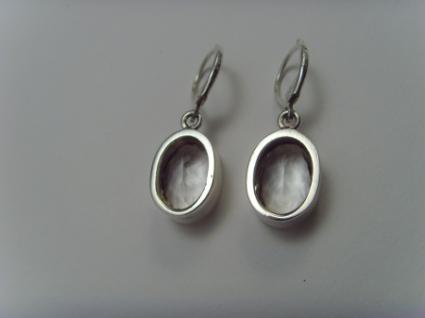 Bergkristall-Ohrhänger 925er Silber ovale Form - Vorschau 3