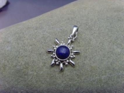 Lapis-Lazuli Inka Sonne 925 er Silber